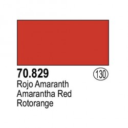 Acrilico Model Color, Rojo amaranth ( 130 ). Bote 17 ml. Marca Vallejo. Ref: 70.829.