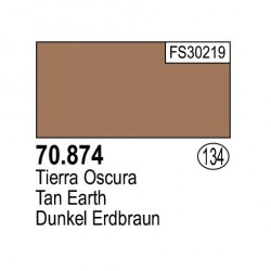 Acrilico Model Color, Tierra oscura ( 134 ). Bote 17 ml. Marca Vallejo. Ref: 70.874.