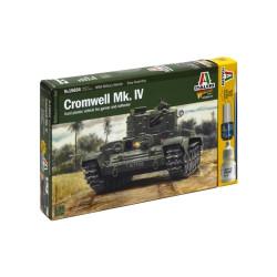 Tanque Cromwell Mk. IV. Incluye pincel, pegamento y pintura. Escala 1:56. Marca Italeri. Ref: 15654.