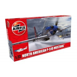 Caza North American P-51D Mustang. Escala 1:72. Marca Airfix. Ref: 01004A.