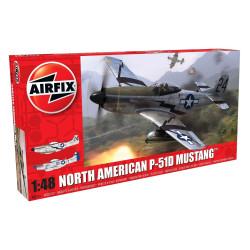 Caza North American P-51D Mustang. Escala 1:48. Marca Airfix. Ref: A05131.