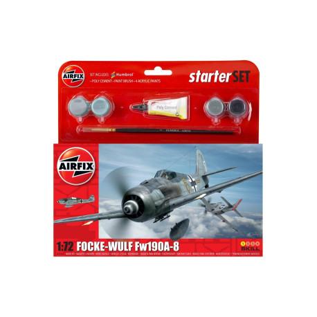 Avión de Combate Focke-Wulf FW 190 A-8 . Escala 1:72. Marca Airfix. Ref: A55110.