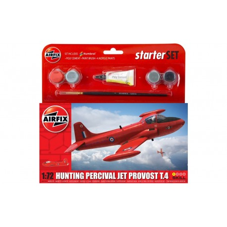 Set Avión Hunting Percival jet Provost T.4. Escala 1:72. Marca Airfix. Ref: A55116.