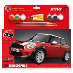 Coche Mini cooper S. Escala 1:32. Marca Airfix. Ref: A50125.