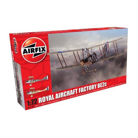 Avión  Royal Aircraft Factory BE2c Scout. Escala 1:72. Marca Airfix. Ref: A02104.