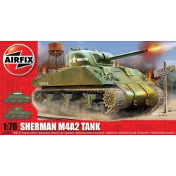 Sherman M4A2, WWII. Escala 1:76. Marca Airfix. Ref: A01303.
