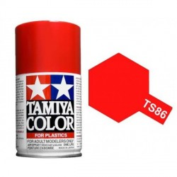 Spray pure Red, Rojo puro (85086). Bote 100 ml. Marca Tamiya. Ref: TS-86.