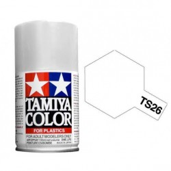 Spray pure white, Blanco puro (85026). Bote 100 ml. Marca Tamiya. Ref: TS-26.