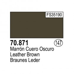 Acrilico Model Color, Marrón cuero oscuro ( 147 ). Bote 17 ml. Marca Vallejo. Ref: 70.871.