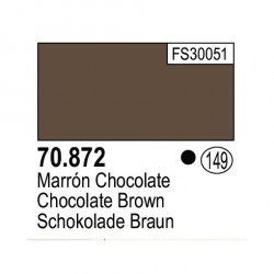 Acrilico Model Color, Marrón chocolate ( 149 ). Bote 17 ml. Marca Vallejo. Ref: 70.872.