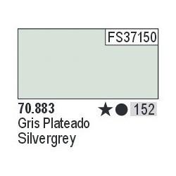 Acrilico Model Color, Gris plateado ( 152 ). Bote 17 ml. Marca Vallejo. Ref: 70.883.