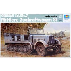 German Sd.Kfz.7, Mittlere Zugkraftwagen 8t. Escala 1:35. Marca Trumpeter. Ref: 01514.