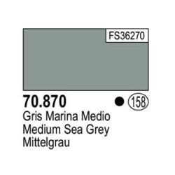Acrilico Model Color, Gris marina medio ( 158 ). Bote 17 ml. Marca Vallejo. Ref: 70.870.