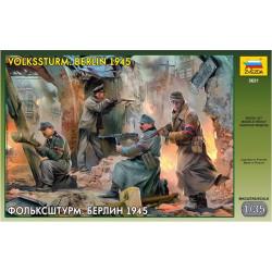 Figuras Infanteria Alemana: Volkssturm Troops. Berlin 1945, WWII. Escala 1:35. Marca Zvezda. Ref: 3621.