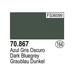 Acrilico Model Color, Azul Gris oscuro ( 164 ). Bote 17 ml. Marca Vallejo. Ref: 70.867.