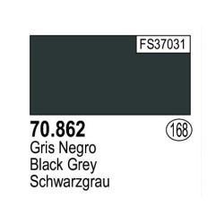 Acrilico Model Color, gris negro ( 168 ). Bote 17 ml. Marca Vallejo. Ref: 70.862.