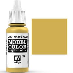 Acrilico Model Color, oro ( 172 ). Bote 17 ml. Marca Vallejo. Ref: 70.996.
