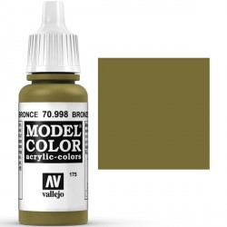 Acrilico Model Color, Bronce ( 175 ). Bote 17 ml. Marca Vallejo. Ref: 70.998.