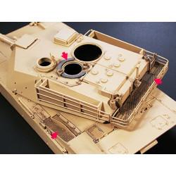 Set de fotograbados para el Abrams M1A1/A2. Escala 1:35. Marca Tamiya. Ref: 35273.