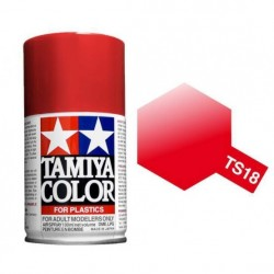 Spray metallic Red, Rojo metálico (85018). Bote 100 ml. Marca Tamiya. Ref: TS-18.