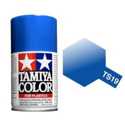 Spray metallic Blue, Azul metálico (85019). Bote 100 ml. Marca Tamiya. Ref: TS-19.
