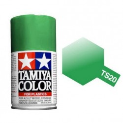 Spray metallic Green, Verde metálico (85020). Bote 100 ml. Marca Tamiya. Ref: TS-20.