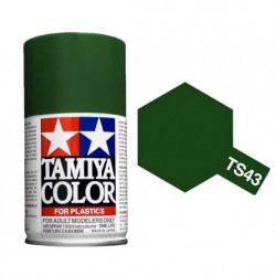 Spray Racing Green, Verde carreras (85043). Bote 100 ml. Marca Tamiya. Ref: TS-43.