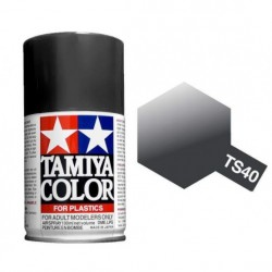 Spray Metallic Black, negro metálico (85040). Bote 100 ml. Marca Tamiya. Ref: TS-40.