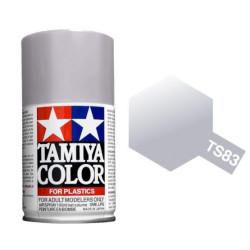 Spray Metallic Silver, Plata metálico (85083). Bote 100 ml. Marca Tamiya. Ref: TS-83.