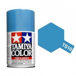 Spray French blue, azul francés (85010). Bote 100 ml. Marca Tamiya. Ref: TS-10.