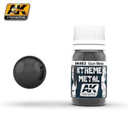 Xtreme Metal, gun metal. Contiene 35 ml. Marca AK Interactive. Ref: AK483.