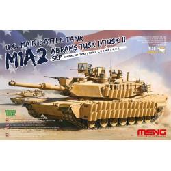 U.S. Main Battle Tank M1A2 SEP Abrams TUSK I/TUSK II. Escala 1:35. Marca Meng. Ref: TS-026.