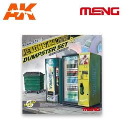 Máquinas de bebidas y contenedores. Escala 1:35. Marca Meng. Ref: SPS-018.