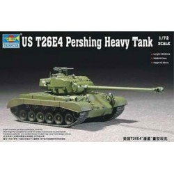 Tanque US T26E4, Pershing heavy. Escala 1:72. Marca Trumpeter. Ref: 07287.
