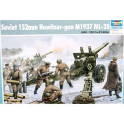 SOVIET 152 mm ML-20 M1937 FIELD HOWITZER GUN. Escala 1:35. Marca Trumpeter. Ref: 02315.