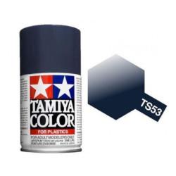 Spray deep metallic Blue, Azul oscuro metálizado (85053). Bote 100 ml. Marca Tamiya. Ref: TS-53.