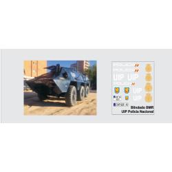 Calcas del Blidado BMR, azul UIP policía Nacional. Escala 1:35. Marca Trenmilitaria. Ref: 000_4282.