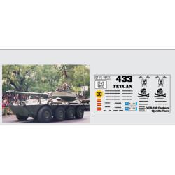 Calcas del Blindado VCR-105, Ejército de Tierra. Escala 1:72. Marca Trenmilitaria. Ref: 000_3906.