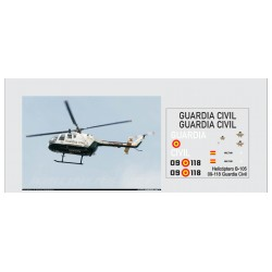Calcas del helicóptero BO-105, Guardia civil. Escala 1:72. Marca Trenmilitaria. Ref: 000_4459.