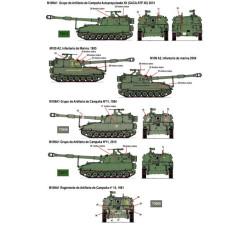 Calcas M108 y M109 en España. Escala 1:35. Marca Fcmodeltips. Ref: 35211.