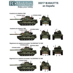 Calcas M60 en España. Escala 1:35. Marca Fcmodeltips. Ref: 35217.