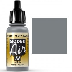 Acrilico Model air gris gaviota oscuro, dark gull gray . Bote 17 ml. Marca Vallejo. Ref: 71.277.