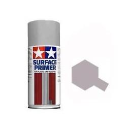 Spray Surface Primer grey ,L. Para plástico y metal. Bote 180 ml. Marca Tamiya. Ref: 87042.
