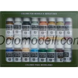 Set 16 colores Game color, colonial americano. Bote 17 ml. Marca Vallejo. Ref: 70.147.