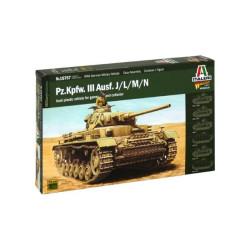 Tanque Pz. Kpfw. III Ausf. J/K/L/M. Escala 1:56. Marca Italeri. Ref: 15757.
