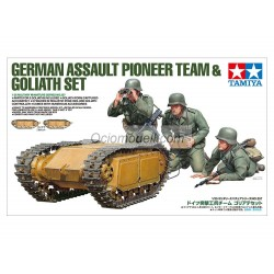 Set German Assault Pioneer Team & Goliath. Escala 1:35. Marca Tamiya. Ref: 35357.