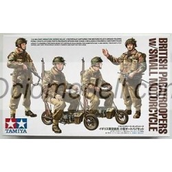 British Paratroopers with Small Motorcycle. Escala 1:35. Marca Tamiya. Ref: 35337.