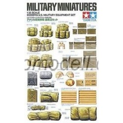 Set Modern US Military Equipment , equipamiento militar moderno US. Escala 1:35. Marca Tamiya. Ref: 35266.