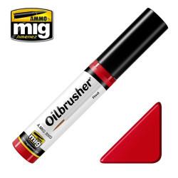 Oilbrusher: Oleo rojo, red. Marca Ammo of Mig Jimenez. Ref: AMIG3503.