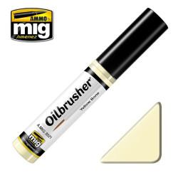 Oilbrusher: Oleo Amarillo hueso, yellow bone. Marca Ammo of Mig Jimenez. Ref: AMIG3521.